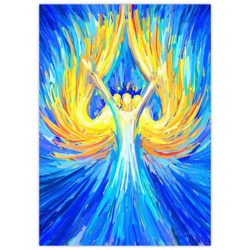 glorious angel painting