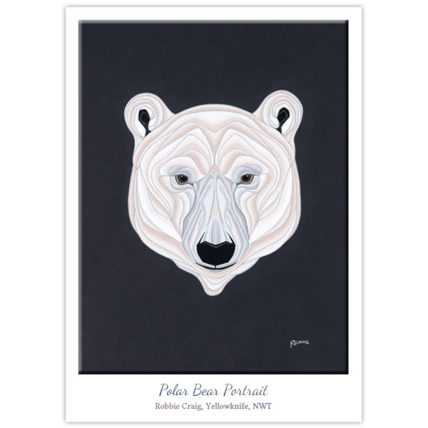 the face of a polar bear