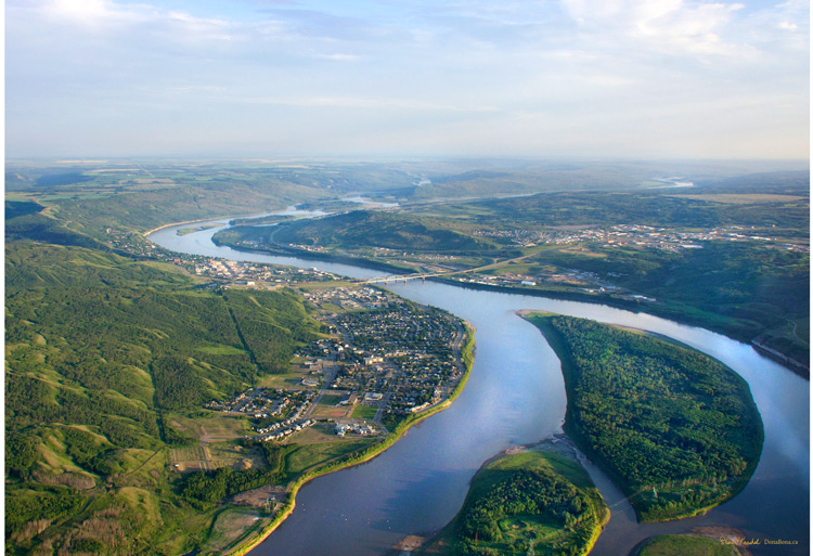 Town of Peace River aerial photo by Sharon Krushel